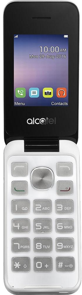 Alcatel OT-2051D, White2051D-3BALRU1Alcatel OT-2051D - традиционный кнопочный телефон-раскладушка, компактный и простой в использовании. Он обеспечит владельцу возможность вести телефонные разговоры и обмениваться SMS-сообщениями. Удобная клавиатура позволяет с легкостью набрать нужный номер или текстовое сообщение. 2-мегапиксельная камера придется кстати, если на пути попалось что-то интересное. При этом ы сможете как сделать эффектное фото, так и вести видеозапись различных событий. В Alcatel OT-2051D предусмотрено FM-радио и аудиоплеер. Вы можете прослушивать любимые радиопередачи или аудиозаписи в любом месте, где бы вы ни находились. Слот для карты памяти объемом до 32 Гб обеспечит вам возможность записи огромного количества любимых песен! Alcatel OT-2051D оснащен двумя слотами для SIM-карт позволит вам комбинировать наиболее выгодные тарифы различных операторов, а также сочетать рабочую SIM-карту с SIM-картой для общения с близкими в одном устройстве. ...