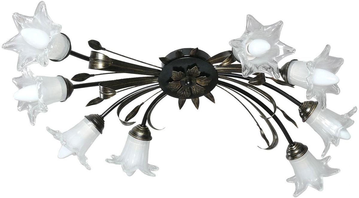 Люстра потолочная Аврора Ирис, 8 х E14, 60 W. 10041-8C10041-8C