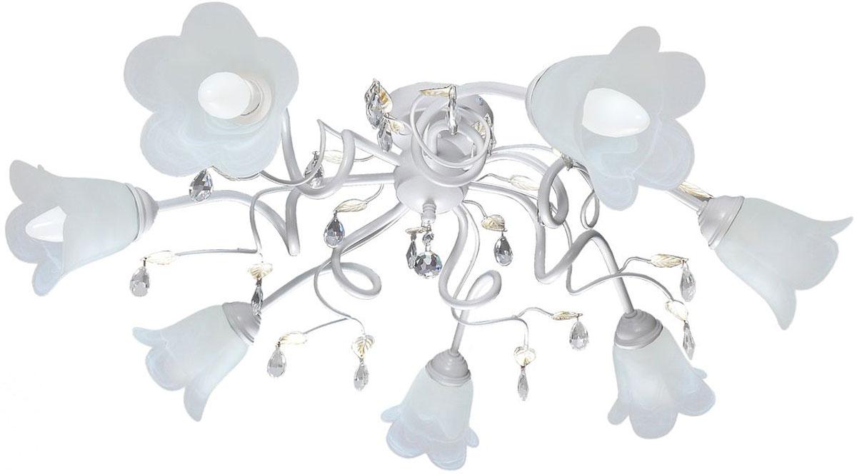 Люстра потолочная Аврора Флора, 7 х E14, 60 W. 10042-7C10042-7C