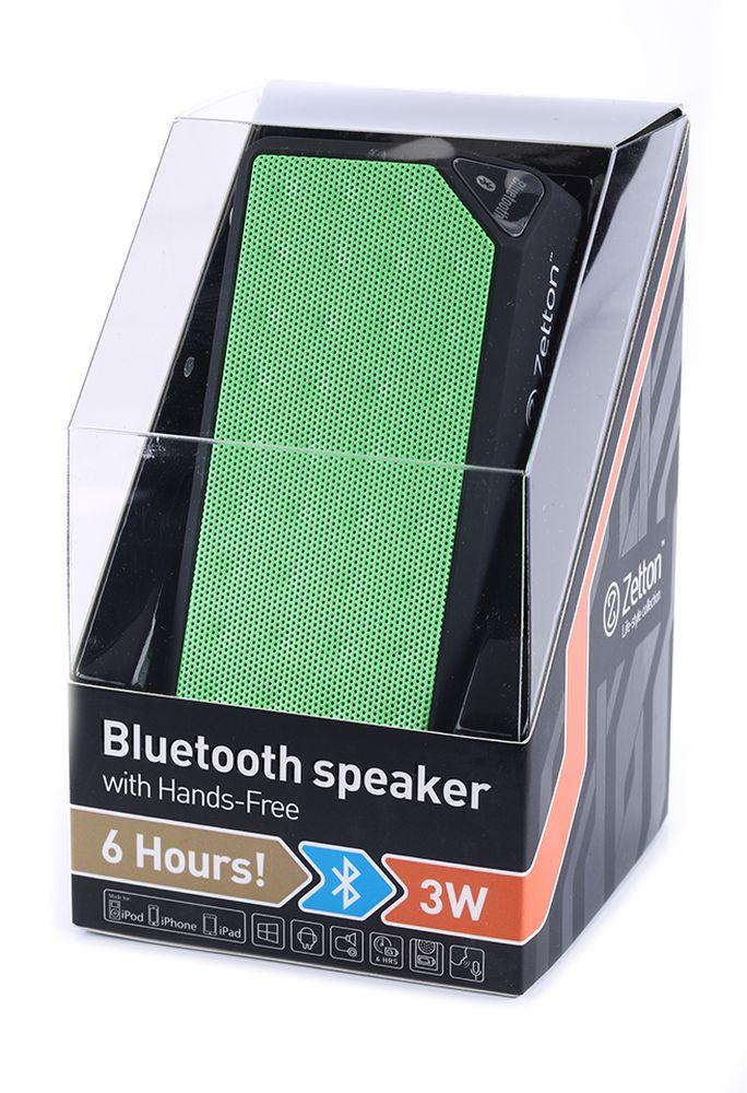 Zetton Parallelepiped, Black Green портативная Bluetooth-колонка (ZTLSBSPARBG)ZTLSBSPARBGподдержка Bluetooth, FM радио, встроенный микрофон, возможность приёма звонков