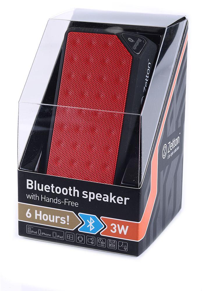 Zetton Parallelepiped, Black Red портативная Bluetooth-колонка (ZTLSBSPARBR)ZTLSBSPARBRподдержка Bluetooth, FM радио, встроенный микрофон, возможность приёма звонков