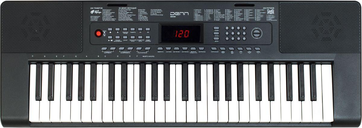 Denn DEK494 цифровой синтезаторDEK494Количество клавиш: 49 Русифицированная панель управления Размер клавиш: полноразмерные Количество тембров: 200 Количество ритмов: 200 Количество мелодий: 50 Функции: перкуссия, вибрато, сустейн, обучение, запись, эхо, аккорды Полифония: до 8 тонов Адаптер питания: в комплекте