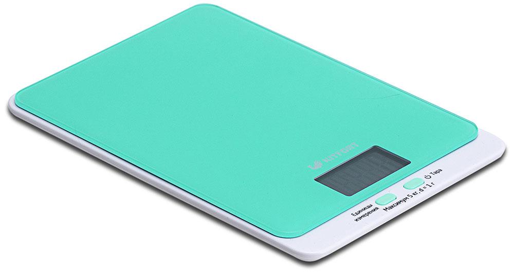 Kitfort КТ-803-1,весы кухонные цвет: зеленыйКТ-803-1Электронные кухонные весы Kitfort КТ-803 позволяют определять вес до 5 кг с точностью до 1 грамма. Они оснащены жидкокристаллическим дисплеем с крупными цифрами, функциями автокалибровки, тарировки и выбора единиц измерения. Платформа выполнена из высокопрочного полированного стекла, а прорезиненные ножки обеспечивают весам дополнительную устойчивость и предотвращают их скольжение по поверхности. Для получения максимально точного результата устанавливайте весы на ровную горизонтальную поверхность. Датчики веса находятся в ножках весов, поэтому если они стоят на неровной или мягкой поверхности, то вес будет измеряться неправильно. Функция тарировки работает только при включенных весах. Левая кнопка используется для переключения единиц измерений. Включите весы, дождитесь окончания калибровки, затем последовательными нажатиями на кнопку выберите требуемые единицы измерения: g (граммы), oz (унции), lb: oz (фунты: унции), ml (миллилитры), fl.oz...
