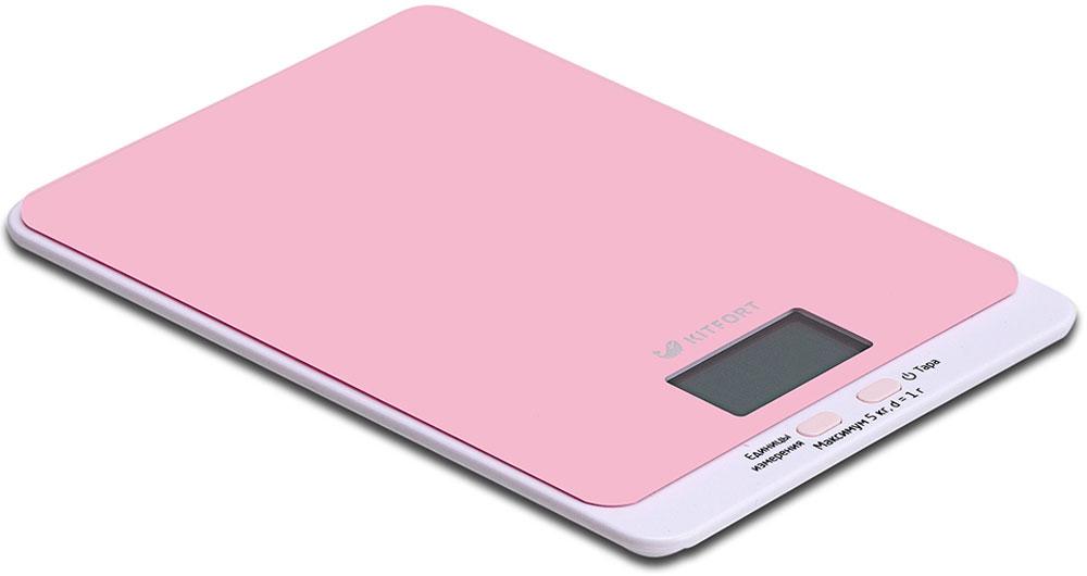 Kitfort КТ-803-2, Pink весы кухонныеКТ-803-2Электронные кухонные весы Kitfort КТ-803 позволяют определять вес до 5 кг с точностью до 1 грамма. Они оснащены жидкокристаллическим дисплеем с крупными цифрами, функциями автокалибровки, тарировки и выбора единиц измерения. Платформа выполнена из высокопрочного полированного стекла, а прорезиненные ножки обеспечивают весам дополнительную устойчивость и предотвращают их скольжение по поверхности. Для получения максимально точного результата устанавливайте весы на ровную горизонтальную поверхность. Датчики веса находятся в ножках весов, поэтому если они стоят на неровной или мягкой поверхности, то вес будет измеряться неправильно. Функция тарировки работает только при включенных весах. Левая кнопка используется для переключения единиц измерений. Включите весы, дождитесь окончания калибровки, затем последовательными нажатиями на кнопку выберите требуемые единицы измерения: g (граммы), oz (унции), lb: oz (фунты: унции), ml (миллилитры), fl.oz...