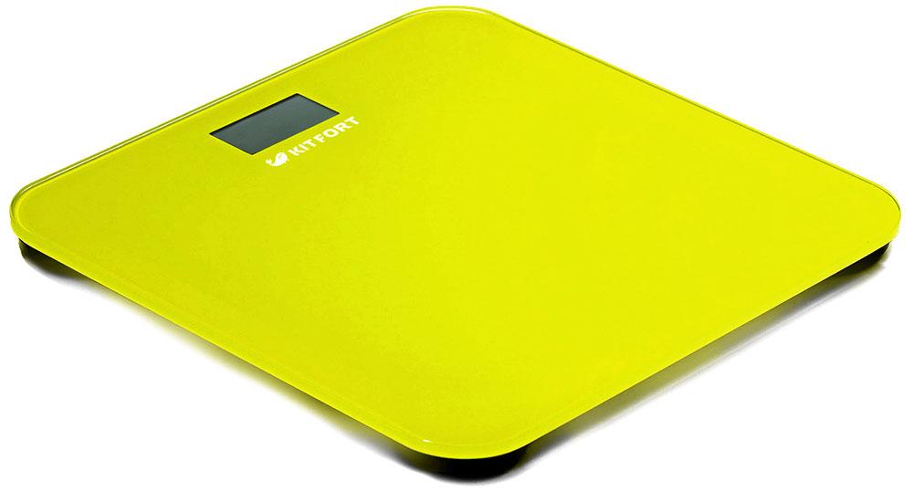 Kitfort КТ-804-4, Yellow весы напольныеКТ-804-4Электронные напольные весы Kitfort КТ-804 обеспечивают высокую точность измерения и станут неизменным спутником для людей, следящих за своим весом. Весы оснащены жидкокристаллическим дисплеем с крупными цифрами, что делает их использование максимально удобным. Платформа выполнена из высокопрочного полированного стекла, а прорезиненные ножки обеспечивают весам дополнительную устойчивость и предотвращают их скольжение по полу, что гарантирует безопасность во время взвешивания. Включение и выключение весов Kitfort КТ-804 происходит автоматически. После взвешивания показания весов фиксируются. При каждом включении весы автоматически калибруются и тарируются для обеспечения большей точности показаний. Весы имеют яркий привлекательный дизайн, благодаря чему украсят собой любой интерьер. Минимальный вес: 2,5 кг