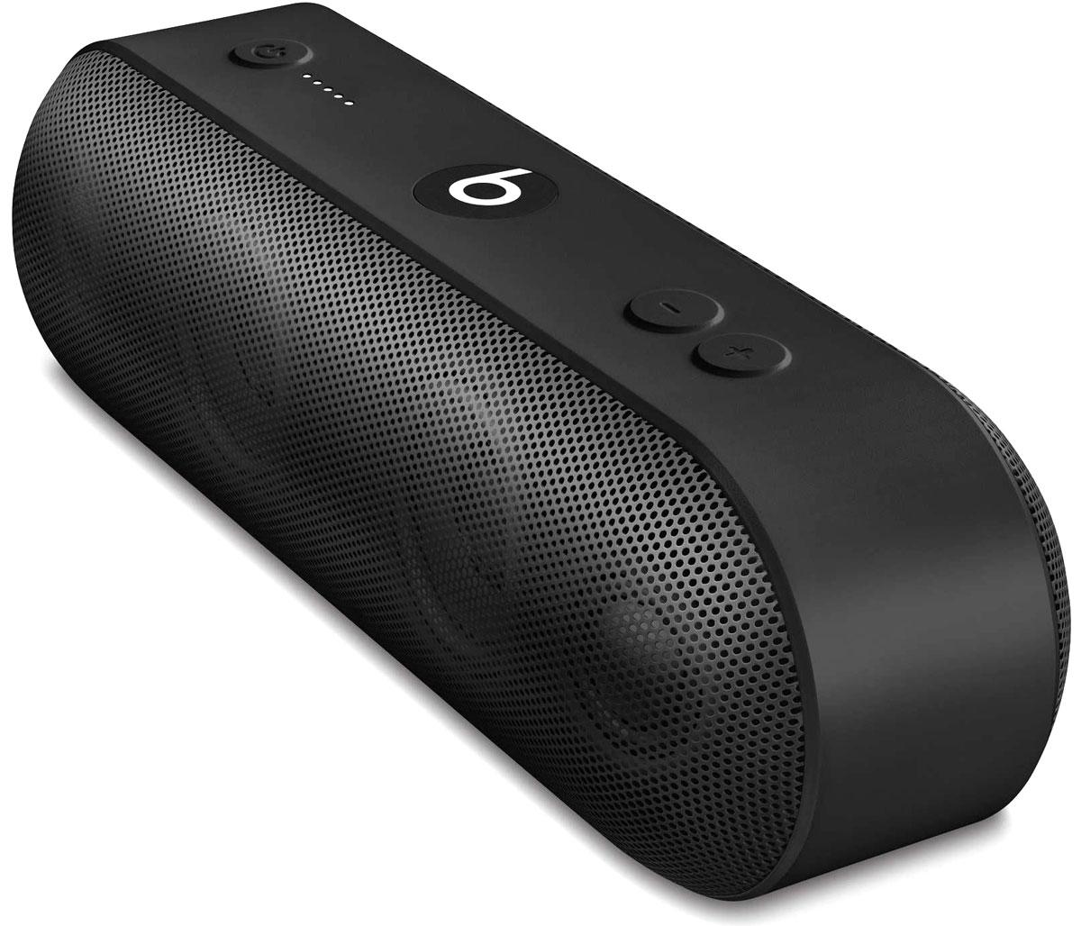 Beats Pill+, Black портативная акустическая системаML4M2ZE/AАкустическая система Beats Pill+ полностью портативна и наполняет комнату богатым и чистым звучанием - удивительно мощным и чётким. Стильный интерфейс Beats Pill+ интуитивно понятен и открывает совершенно новые возможности для совместного прослушивания музыки. Стереосистема с активным двухканальным кроссовером создаёт великолепное звуковое поле с широким динамическим диапазоном и чётким звучанием во всех музыкальных жанрах. В раздельных динамиках высоких и низких частот используется такая же акустическая схема, как в профессиональных студиях звукозаписи по всему миру. Благодаря продуманному дизайну Beats Pill+ звучит так же хорошо, как и выглядит. В его простом и интуитивно понятном интерфейсе нет ничего лишнего, и включить любимую музыку очень легко. Объедините Beats Pill+ в пару с iPhone, MacBook или любым другим устройством Bluetooth, чтобы слушать музыку, смотреть видео и играть в игры с великолепным качеством звука. Или объедините их в пару с...
