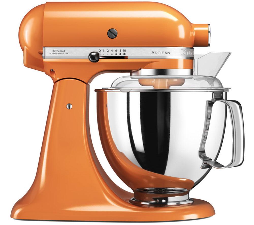KitchenAid Artisan, Orange миксер планетарный (5KSM175PSETG)5KSM175PSETGМиксер KitchenAid 5KSM175PSETG - уникальное многофункциональное устройство, практически не имеющее аналогов на рынке техники для дома и кухни. Легендарный бренд, чья история насчитывает уже более 90 лет, завоевал сердца домохозяек благодаря своей невероятной надежности, долговечности и отменному качеству. Процесс производства миксеров KitchenAid не оставляет сомнений в долговечности этого прибора. Литые детали механизма изготовлены из высококачественной стали. Ручная сборка и тщательная подгонка частей привода обеспечивают низкий уровень шума и вибрации, являются гарантией безупречной работы прибора. Классический дизайн миксеров KitchenAid Artisan станет украшением интерьера любой кухни. Одна из отличительных особенностей этой серии - богатая цветовая гамма. На выбор покупателей предлагаются модели почти двух десятков разнообразных оттенков. Откидывающаяся головка миксера KitchenAid Artisan позволяет легко менять насадки и устанавливать чашу.Миксер...