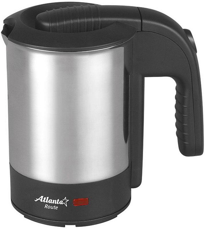 Atlanta ATH-2429, Black электрический чайникATH-2429Atlanta ATH-2429 - простая и практичная модель, незаменима на любой кухне. Чайник мощностью 600 Вт и объемом 0,5 л в считанные минуты вскипятит воду. Модель выполнена из нержавеющей стали, которая при нагревании не выделяет вредных веществ. Закрытый нагревательный элемент. При закипании чайник автоматически выключается. Модель отлично подойдет как для домашней кухни, так и для использования в офисе. Она полностью соответствует общепринятым нормам безопасности. В комплекте - 2 стаканчика.