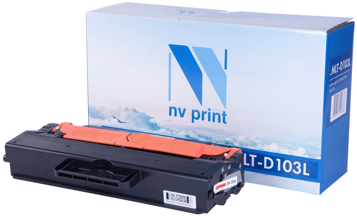 NV Print MLTD103L, Black тонер-картридж для Samsung ML-2950ND/2955ND/DW/SCX-4727FD/4728FD/4729FD/FWNV-MLTD103LСовместимый лазерный картридж NV Print MLTD103L для печатающих устройств Samsung - это альтернатива приобретению оригинальных расходных материалов. При этом качество печати остается высоким. Картридж обеспечивает повышенную чёткость и плавность переходов оттенков цвета и полутонов, позволяет отображать мельчайшие детали изображения. Лазерные принтеры, копировальные аппараты и МФУ являются более выгодными в печати, чем струйные устройства, так как лазерных картриджей хватает на значительно большее количество отпечатков, чем обычных. Для печати в данном случае используются не чернила, а тонер.