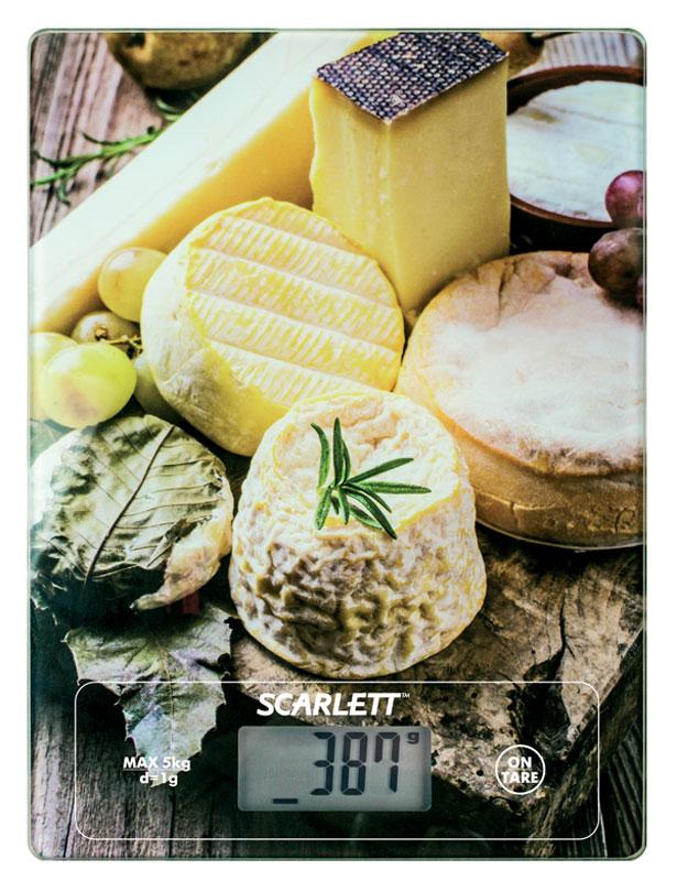 Scarlett SC-KS57P14, Cheese Platter весы кухонныеSC-KS57P14Весы Scarlett SC-KS57P14 Cheese Platter - это отличный помощник на вашей кухне. Функция компенсации тары позволит взвешивать не учитывая массу тары, а высокая точность даст возможность точно следовать вашим любимым рецептам. Данная модель позволяет измерить не только вес, но и объем. Прибор также имеет индикатор перегрузки и заряда батареи.