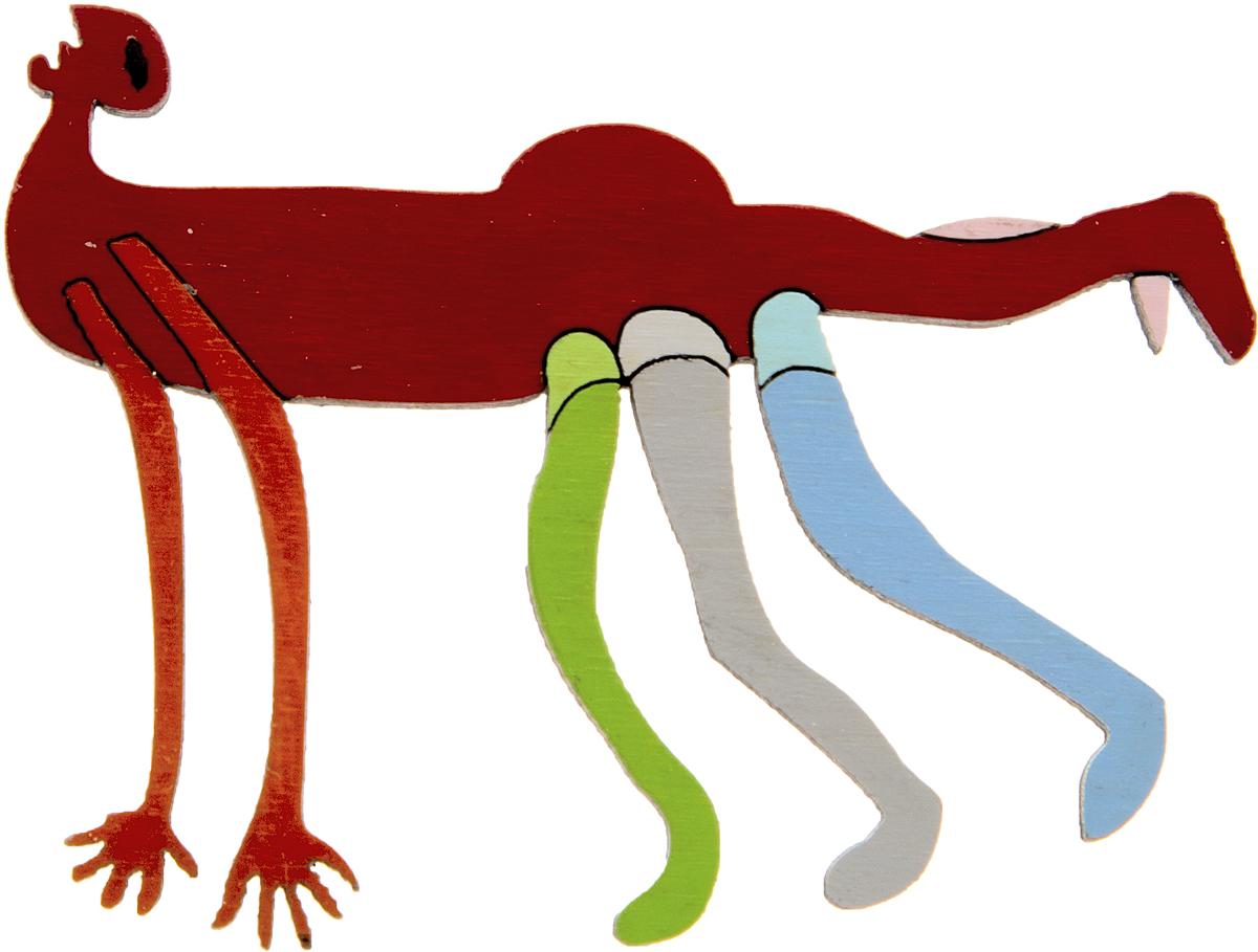 Брошь Многоногий. Дерево, роспись, ручная работа. Россия30028030Брошь выполнена по картине Уолтера Баттисса Многоногий (1960-1970 гг.). Дизайнеры: Олеся Луконина, Николай Уренцов. Дерево, роспись, ручная работа. Россия. Размер: 6 х 4,5 см. Тип крепления - булавка с застежкой. Брошь унисекс - подойдет как необычное украшение для мужчин и женщин! Можно носить на одежде, шляпе, рюкзаке или сумке.