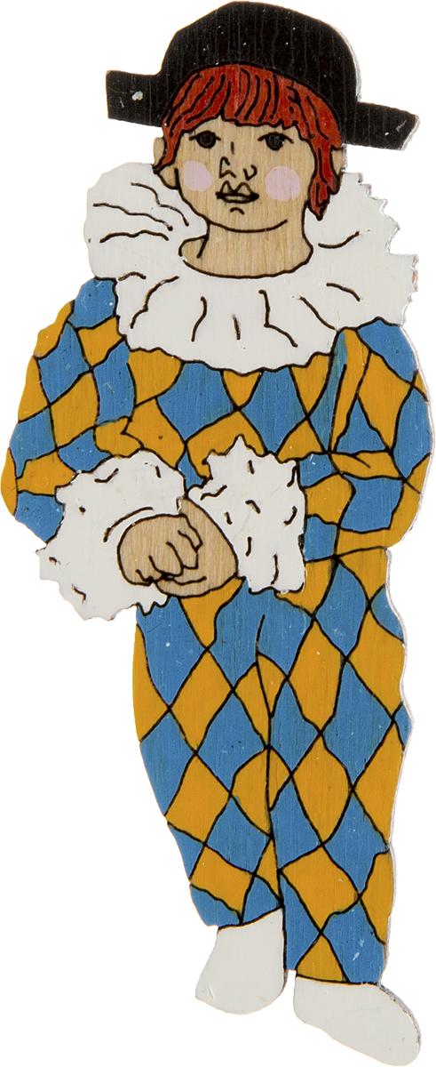 Брошь Поль в костюме арлекина. Дерево, роспись, ручная работа. Россия30028130Брошь выполнена по картине П. Пикассо Поль в костюме арлекина, 1924 г. Дизайнеры: Олеся Луконина, Николай Уренцов. Дерево, роспись, ручная работа. Россия. Размер: 7 х 3 см. Тип крепления - булавка с застежкой. Брошь унисекс - подойдет как необычное украшение для мужчин и женщин! Можно носить на одежде, шляпе, рюкзаке или сумке.