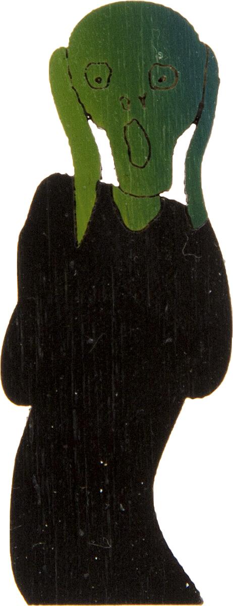 Брошь Крик. Дерево, роспись, ручная работа. Россия30028130Брошь выполнена по картине Эдварда Мунка Крик, 1893 г. Дизайнеры: Олеся Луконина, Николай Уренцов. Дерево, роспись, ручная работа. Россия. Размер: 5 х 2 см. Тип крепления - булавка с застежкой. Брошь унисекс - подойдет как необычное украшение для мужчин и женщин! Можно носить на одежде, шляпе, рюкзаке или сумке.