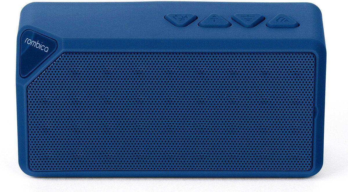 Rombica MySound BT-01 2C, Blue портативная акустическая системаSBT-00012Встроенный сабвуфер, улучшенное воспроизведение низких частот Воспроизведение аудио с microSD карт и через аудиовход Совместима со всеми популярными устройствами с поддержкой Bluetooth Прием звонков с телефона — громкая связь Прием FM радио без наушников Сменный аккумулятор Bluetooth стандарт: v2.1 + EDR FM / Радиоприемник Диапазон воспроизводимых частот: 280 Гц - 16 кГц Мощность динамиков: 3 Вт MP3 плеер Аккумулятор: 600 мАч / 3.7 В Интерфейсы: Micro-USB, слот microSD, аудиовход, Bluetooth