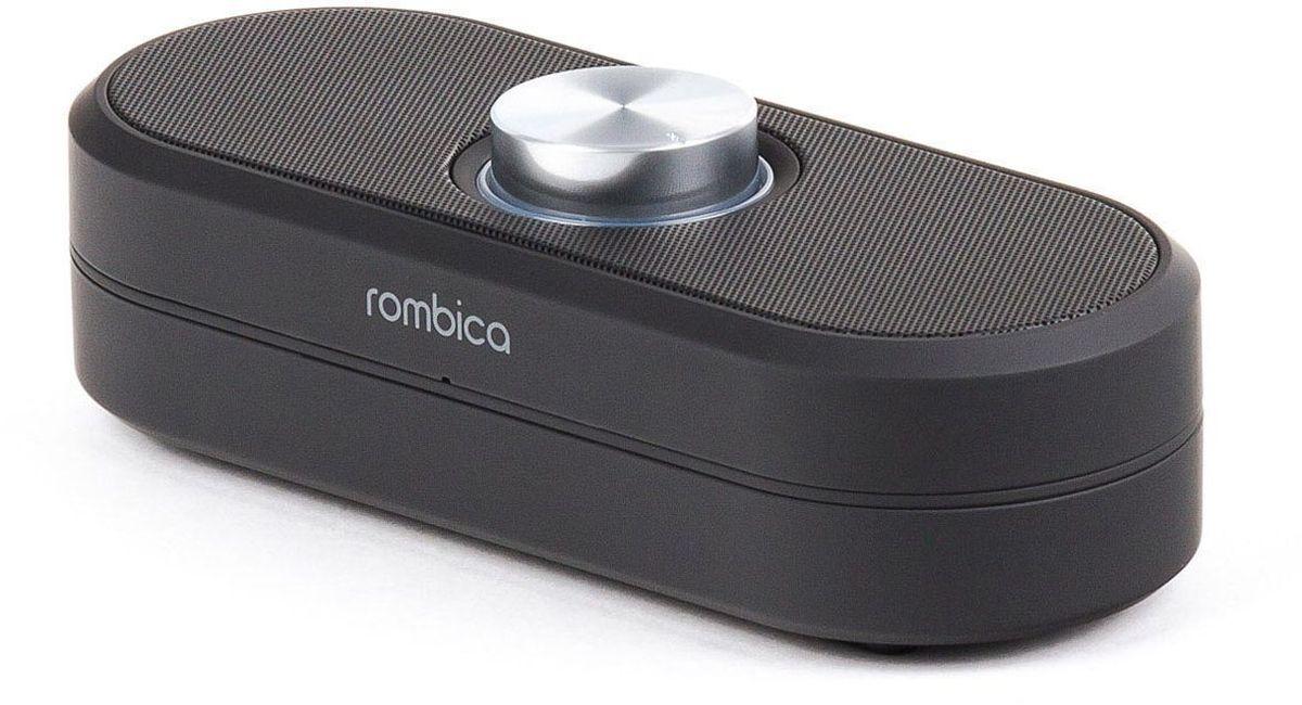 Rombica MySound BT-06, Black портативная акустическая системаSBT-00060Встроенный сабвуфер, улучшенное воспроизведение низких частот Удобная регулировка громкости Воспроизведение музыки через аудиовход Совместима со всеми популярными устройствами с поддержкой Bluetooth Прием звонков с телефона — громкая связь Софт тач покрытие корпуса Bluetooth стандарт: v2.1 + EDR Диапазон воспроизводимых частот: 80 Гц - 20 кГц Мощность динамиков: 6 Вт Аккумулятор: 500 мАч / 3.7 В Интерфейсы: Micro-USB, аудиовход, Bluetooth