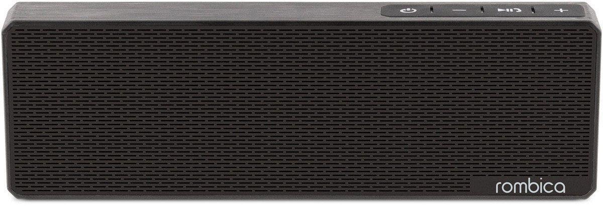 Rombica MySound BT-11 2C, Black портативная акустическая системаSBT-0011BВстроенный сабвуфер, улучшенное воспроизведение низких частот Стерео динамики, чистый и сбалансированный звук Воспроизведение музыки через аудиовход Совместима со всеми популярными устройствами с поддержкой Bluetooth Прием звонков с телефона — громкая связь Покрытие корпуса, имитирующее брашированный метал Емкий аккумулятор на 1200 мАч Bluetooth стандарт: v2.1 + EDR Диапазон воспроизводимых частот: 180 Гц - 20 кГц Мощность динамиков: 6 Вт Аккумулятор: 1200 мАч / 3.7 В Интерфейсы: Micro-USB, аудиовход, Bluetooth