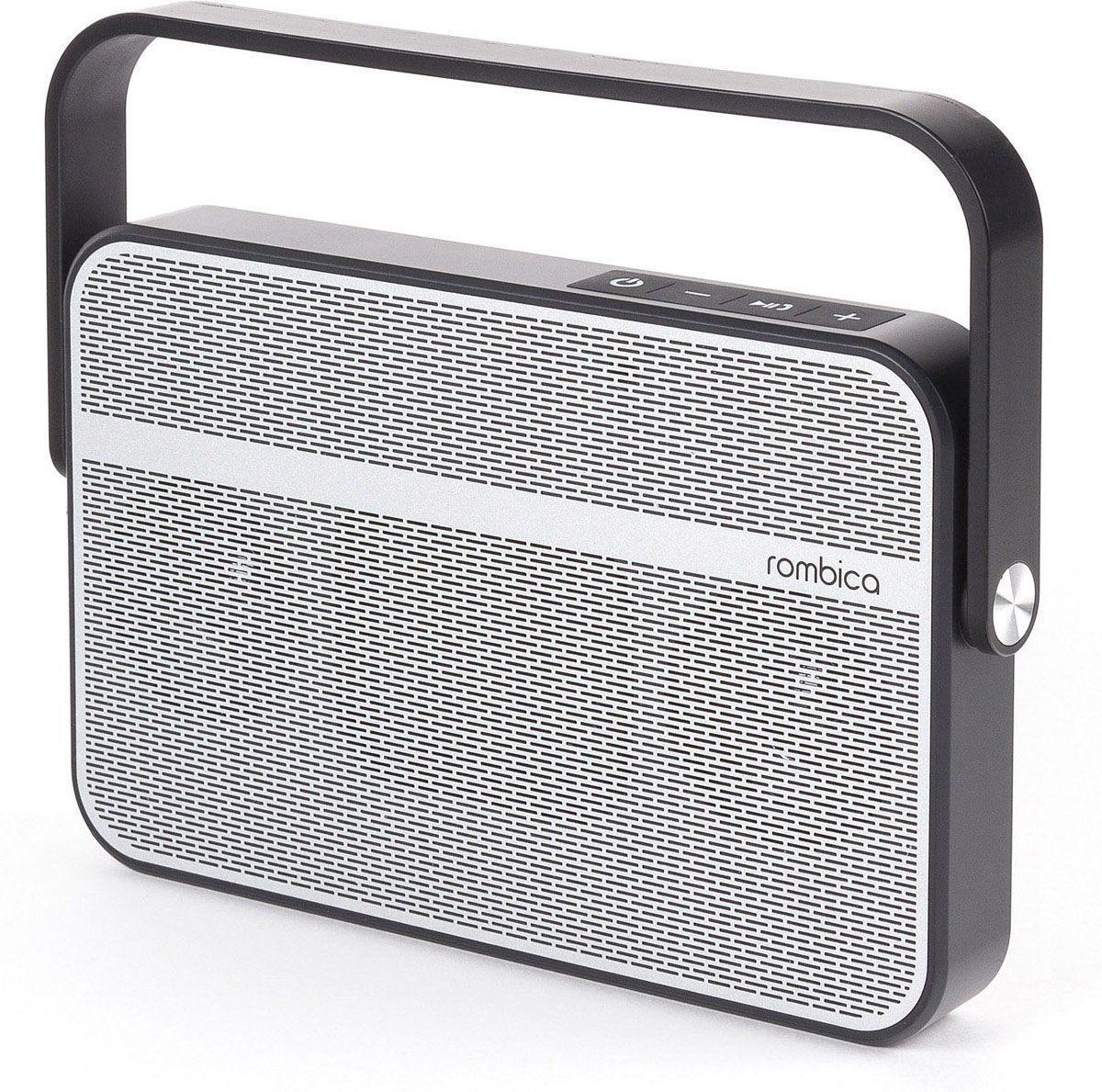 Rombica MySound BT-18, Gray Black портативная акустическая системаSBT-00180Аудиопроигрыватель Rombica MySound BT-18 совместим со всеми популярными устройствами с поддержкой Bluetooth, а также воспроизводит музыку через аудиовход. Встроенный сабвуфер дает глубокий и насыщенный бас. Удобная ручка поворачивается на 360 градусов. Емкий аккумулятор 2200 мАч обеспечивает долгую работу. Rombica MySound BT-18 имеет встроенный микрофон для приема звонков. Диаметр широкополосного динамика: 50 мм