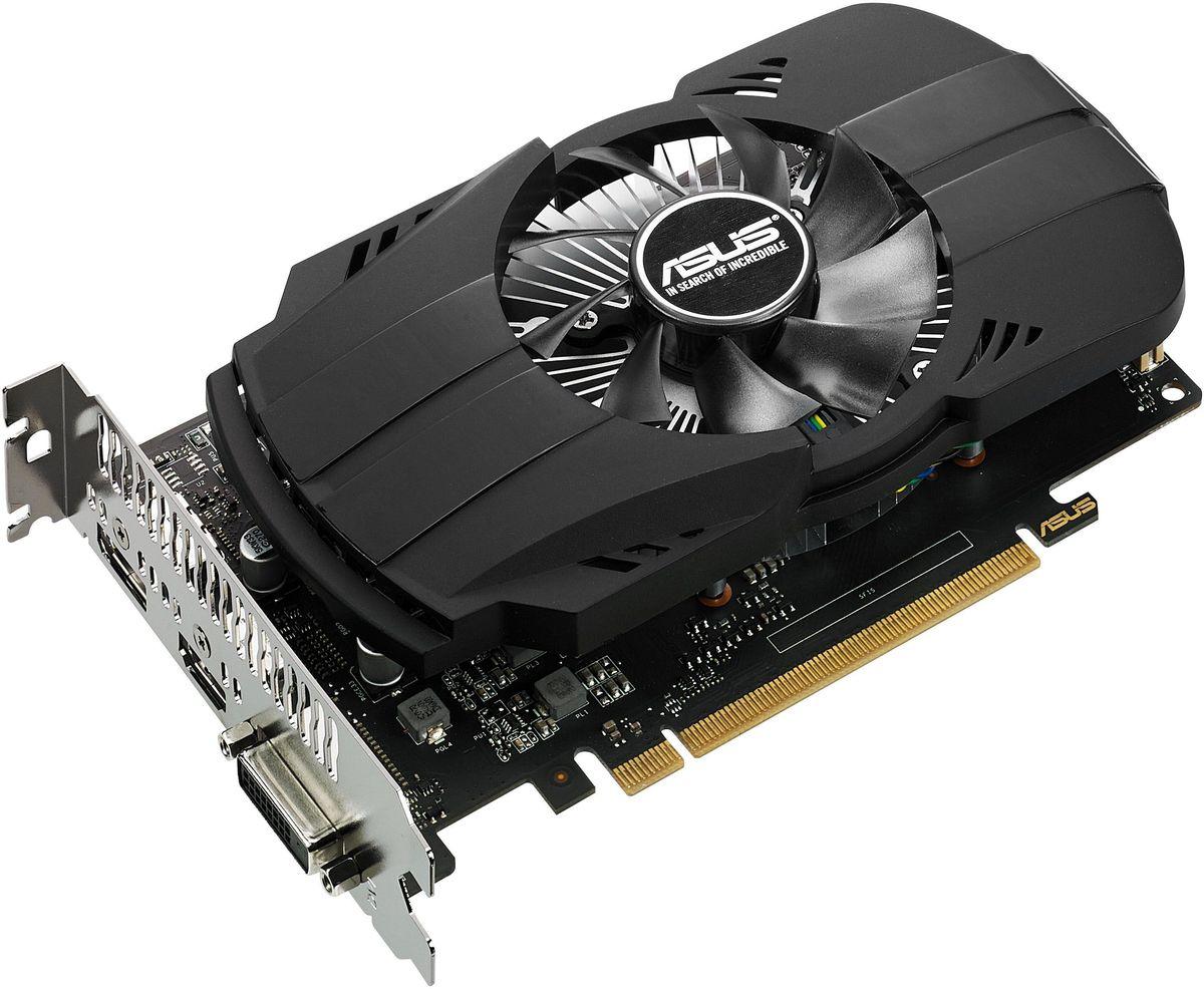 ASUS PH-GTX1050-2G 2Gb видеокарта90YV0AA0-M0NA00Видеокарта 2Gb / PCI-E / ASUS PH-GTX1050-2G / GTX1050, GDDR5, 128 bit, DVI, HDMI, DP (PH-GTX1050-2G)