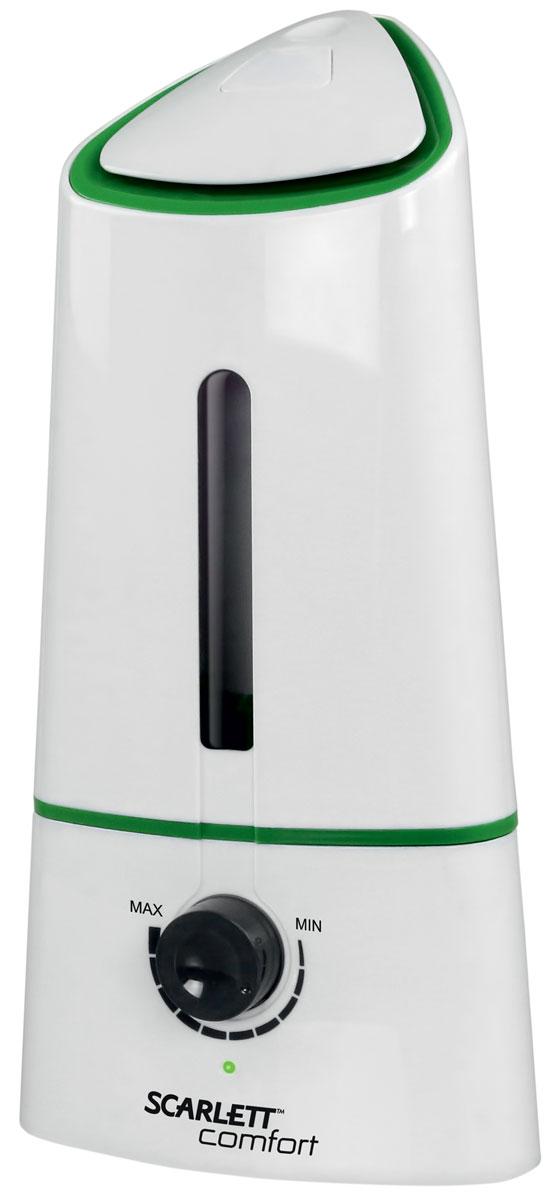 Scarlett SC-AH986M08, White увлажнитель воздухаSC-AH986M08Scarlett SC-AH986M08 - ультразвуковой увлажнитель воздуха. Компактное устройство хорошо подходит для офисных и жилых помещений площадью до 20 м2. Данная модель оснащена долговечной керамической мембраной. Прибор позволяет осуществлять регулирование интенсивности увлажнения. Благодаря встроенному ароматизатору устройство может не только увлажнять воздух, но и насыщать его приятными запахами. Устройство оснащено вместительным резервуаром на 2 литра, этого хватит примерно на 10 часов непрерывной работы.