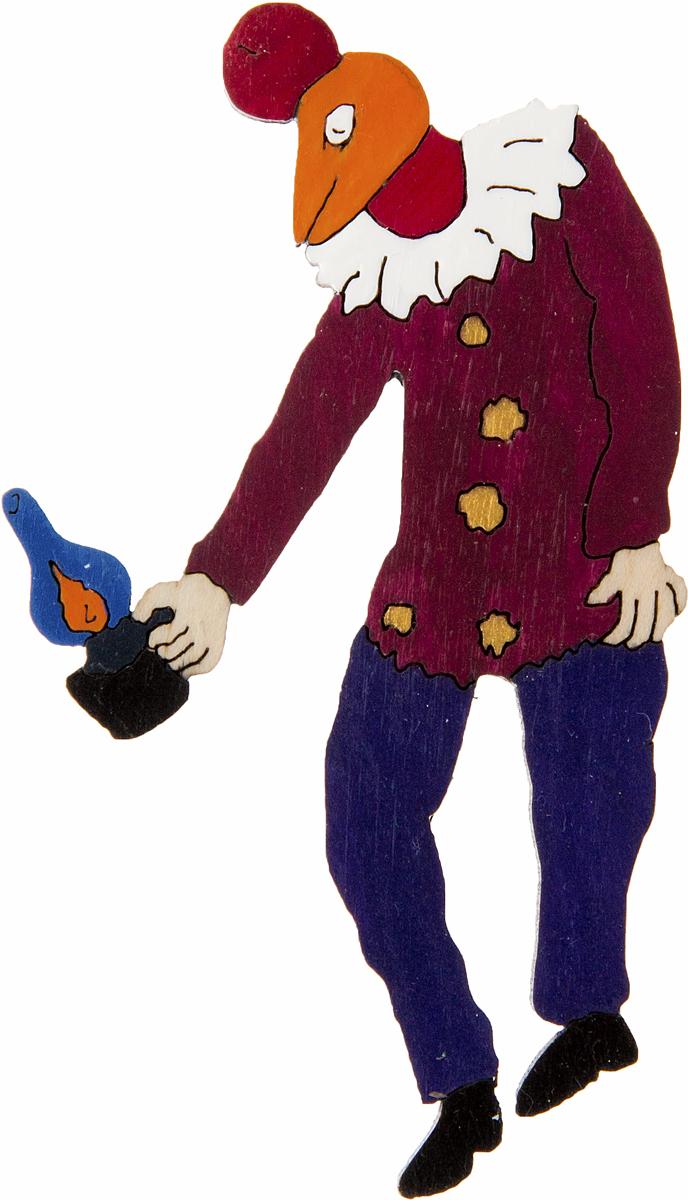 Брошь Человек-петух над Витебском. Дерево, роспись, ручная работа. РоссияОС29416Брошь выполнена по картине Марка Шагала Человек-петух над Витебском (1925 г.). Дизайнеры: Олеся Луконина, Николай Уренцов. Дерево, роспись, ручная работа. Россия. Размер: 7 х 4 см. Тип крепления - булавка с застежкой. Брошь унисекс - подойдет как необычное украшение для мужчин и женщин! Можно носить на одежде, шляпе, рюкзаке или сумке.