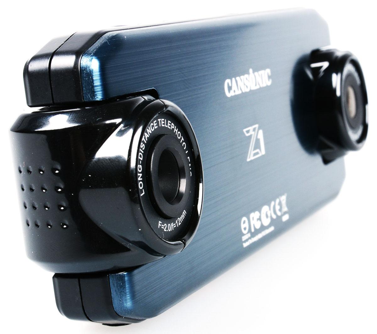 Cansonic Z1 Zoom GPS, Black видеорегистратор4627087521271Автомобильный видеорегистратор Cansonic Z1 Zoom GPS с двумя поворотными с разным углом обзора и поддержкой GPS. Данная модель пишет видео в с двух камер.Правая камера снимает с узким углом обзора (25 градусов), что позволяет различать регистрационные знаки автомобилей, левая камера снимает с широким углом обзора (150 градусов), что позволяет видеть дорожную обстановку. Устройство имеет две поворотных камеры. Левая камера – панорама с углом обзора в 150° позволяет снимать общую дорожную обстановку. Правая камера – бинокль позволяет видеть номерные знаки автомобилей на расстоянии до 40 метров. Автомобильный видеорегистратор сочетает в себе уникальный дизайн, надёжность и технологичность. Он способен работать в автономном режиме до 2-х часов. Поддерживается ГЛОНАСС/GPS модуль. Идущие в комплекте Cansonic Z1 Zoom GPS два варианта быстросъёмных крепления обеспечат возможность легкого снятия и установки аппарата на место. Небольшие размеры устройства и...