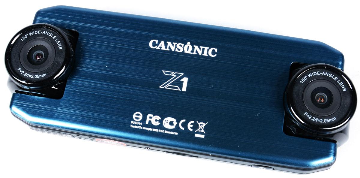 Cansonic Z1 Dual GPS, Black видеорегистратор4627087521264Автомобильный видеорегистратор Cansonic Z1 Dual GPS с двумя поворотными на 180 градусов камерами для съемки дороги и салона автомобиля с поддержкой GPS. Данная модель пишет видео в с двух камер. Как правую так и левую камеру видеоерегистратора вы можете повернуть как в салон так и на дорогу. Устройство имеет две поворотных широкоугольных камеры высокого разрешения с углом обзора 150°. Наличие двух равных по функционалу камер, позволяет охватить 360° обзора в автомобиле. Автомобильный видеорегистратор сочетает в себе уникальный дизайн, надёжность и технологичность. Он способен работать в автономном режиме до 2-х часов. Поддерживается ГЛОНАСС/GPS модуль. Идущие в комплекте Cansonic Z1 Dual GPS два варианта быстросъёмных крепления обеспечат возможность легкого снятия и установки аппарата на место. Небольшие размеры устройства и корпус выполненный в неприметном дизайне дают возможность незаметно установить видеорегистратор. Модель обладает...