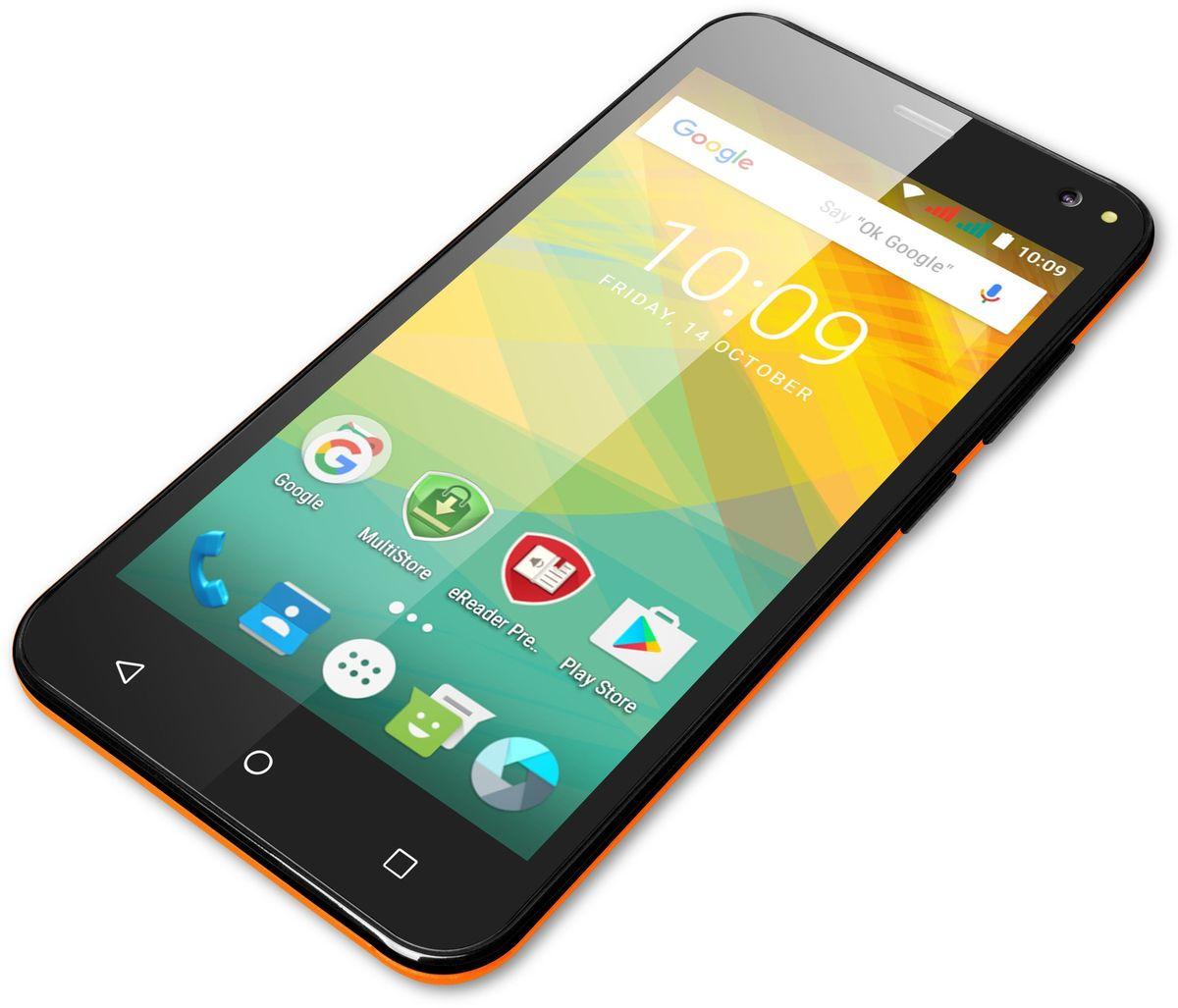 Prestigio Wize NV3, OrangePSP3537DUOORANGEЦветной всплеск: Покажите всем, что вы - яркая творческая личность, с этим неординарным смартфоном. Широкая цветовая палитра на выбор, удобный 5,0-дюймовый экран, две камеры со вспышками для прекрасных фотографий и мощный четырехъядерный процессор - все, что нужно, чтобы подчеркнуть, что вы живете в своем собственном стиле. Для ежедневных задач: Четырехъядерный процессор с частотой 1,2 ГГц гарантирует мощную и надежную производительность. Запускайте несколько приложений одновременно и наслаждайтесь общением с друзьями во время игр, чтения или работы с документами. Wize NV3 оснащен 8 ГБ внутренней памяти, которых вполне достаточно для установки всех приложений для сохранения файлов. Android Marshmallow: Самая популярная ОС улучшает производительность аппаратной части Prestigio. Wize NV3 работает на базе улучшенной версии Android: 6.0 Marshmallow. А значит, он оснащен умным режимом экономии энергии Doze и многими другими классными свойствами. ...