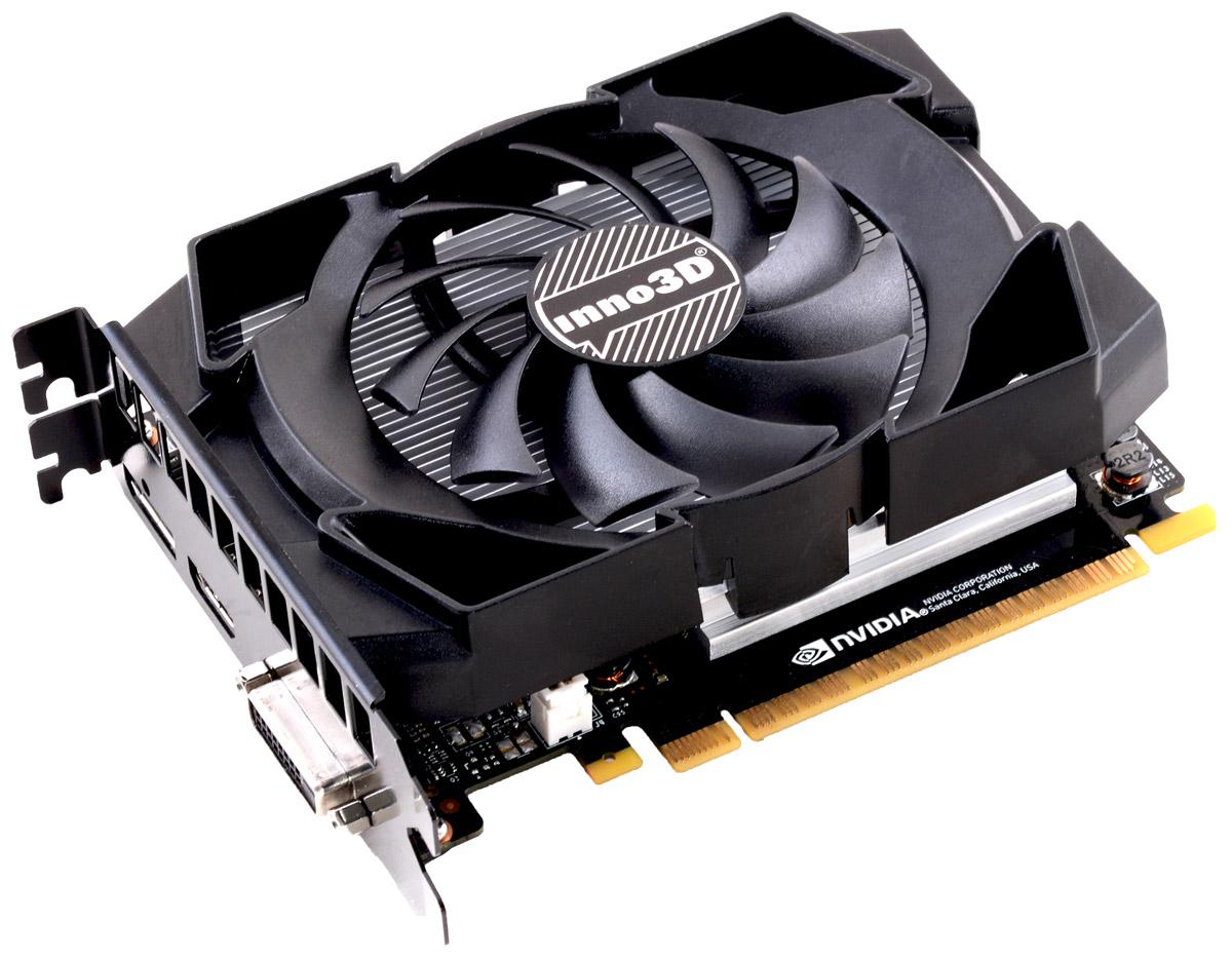 Inno3D GeForce GTX 1050 Compact 2GB видеокарта (N1050-1SDV-E5CM)N1050-1SDV-E5CMВидеокарта 2Gb / PCI-E / Inno3D GeForce GTX 1050 Compact N1050-1SDV-E5CM / GTX1050, GDDR5, 128bit, HDCP, DVI, HDMI, DP