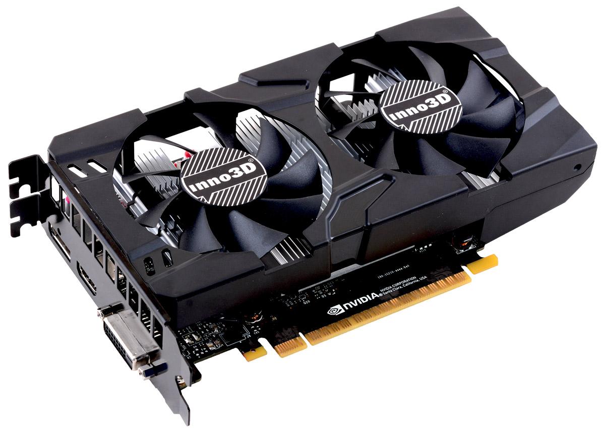 Inno3D GeForce GTX 1050 Ti Twin X2 4GB видеокарта (N105T-1DDV-M5CM)N105T-1DDV-M5CMВидеокарта 4Gb / PCI-E / Inno3D GeForce GTX 1050 Ti Twin X2 N105T-1DDV-M5CM / GTX1050Ti, GDDR5, 128bit, HDCP, DVI, HDMI, DP