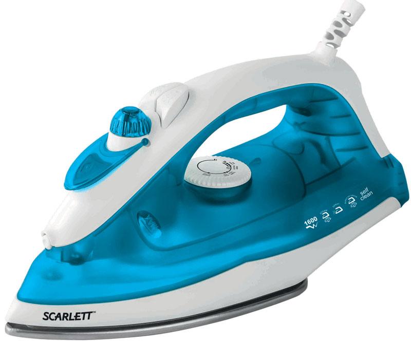 Scarlett SC-SI30S01, Blue утюгSC-SI30S01Утюг Scarlett SC-SI30S01 приятно порадует легким скольжением и увеличенным количеством паровых отверстий, позволяющий быстро и максимально аккуратно проглаживать различные виды ткани. Данная модель имеет плавную регулировку, позволяющую эффективно справляться с деликатной одеждой. Предусматривается вместительный резервуар для воды на 220 мл. Подошва из нержавеющей стали быстро нагревается и не требует сложного ухода. Она оснащена противокапельной системой, удобным желобком для пуговиц, а также системой самоочистки, дополнительно защищающей от образования царапин.
