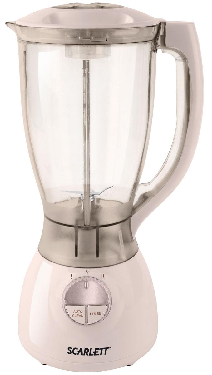 Scarlett SC-4143, Beige блендерSC-4143_BБлендер с чашей Scarlett SC-4143 - вместительный и компактный прибор, который поможет вам приготовить любимые блюда для всей семьи. 2-литровый стакан вмещает в себя количество ингредиентов, достаточное для приготовления супа-пюре, коктейля или любимого соуса. Стакан устанавливается на подставку, оснащенную переключателем. Блендер поддерживает импульсный режим, необходимый для деликатного измельчения орехов, кофе и льда. Удобная ручка из пластика позволяет легко переносить чашу в любое место, круглая крышка предотвращает разбрызгивание содержимого.