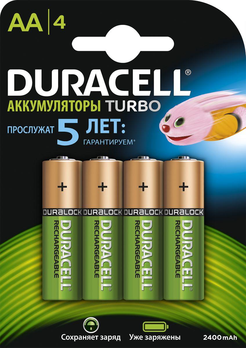 Аккумуляторная батарейка Duracell HR6-4BL, 2400 mAh/2500 mAh, предзаряженная, 4 шт81530927