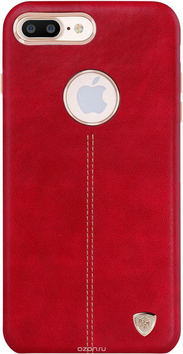 Nillkin Englon Leather Cover чехол для Apple iPhone 7 Plus, Red2000000100296Чехол Nillkin Englon для Apple iPhone 7 Plus надежно защищает ваш смартфон от внешних воздействий, грязи, пыли, брызг. Он также поможет при ударах и падениях, не позволив образоваться на корпусе царапинам и потертостям. Внутри чехла встроена магнитная площадка для крепления к магнитным держателям. Чехол обеспечивает свободный доступ ко всем функциональным кнопкам смартфона и камере.