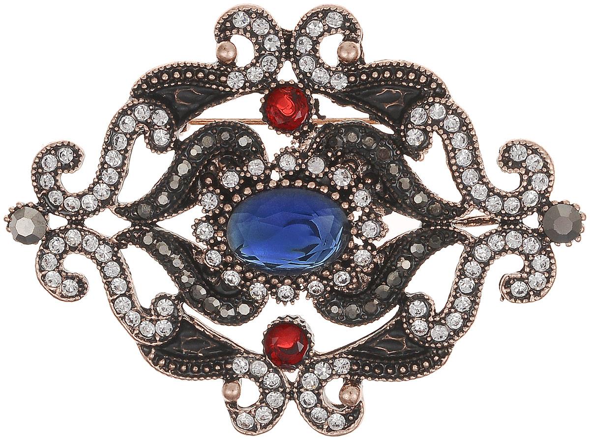 Брошь-кулон Франческа в византийском стиле от Arrina. Разноцветные кристаллы, прозрачные стразы, бижутерный сплав старое золото. ГонконгОС29202Брошь-кулон Франческа в византийском стиле от Arrina. Разноцветные кристаллы, прозрачные стразы, бижутерный сплав старое золото. Гонконг. Размер: 6,5 х 5 см. Тип крепления - булавка с застежкой. Имеется петелька для цепочки.