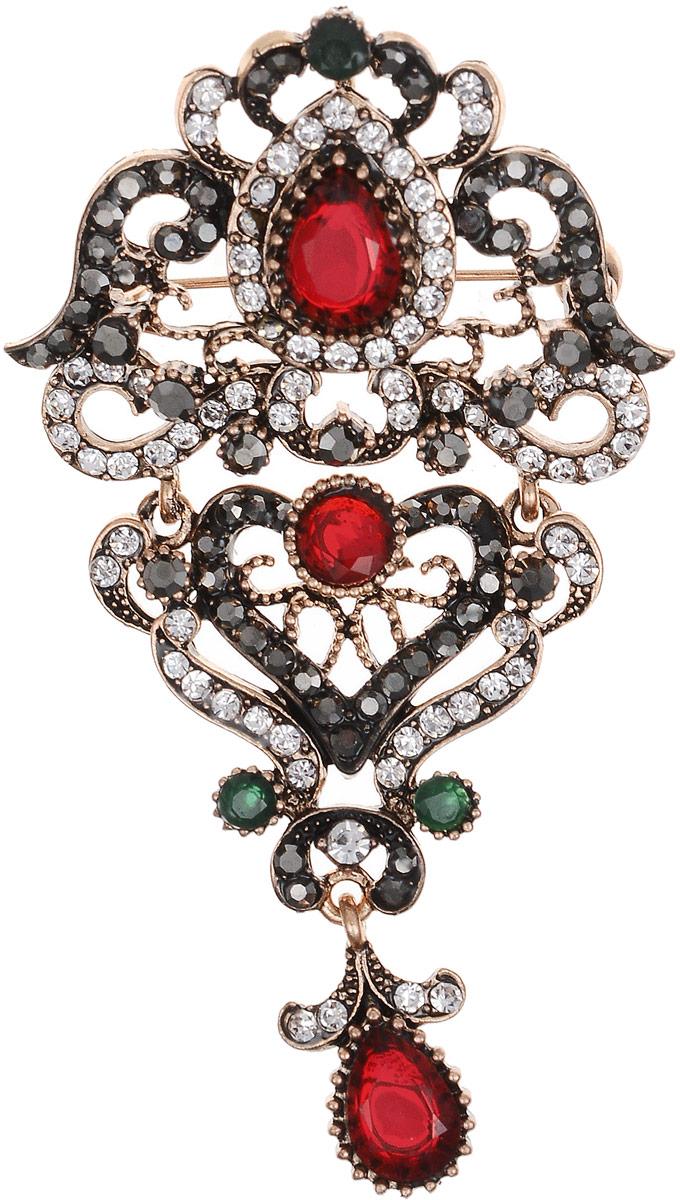 Брошь-кулон Марсела в византийском стиле от Arrina. Разноцветные кристаллы, прозрачные стразы, бижутерный сплав старое золото. ГонконгОС29401Брошь-кулон Марсела в византийском стиле от Arrina. Разноцветные кристаллы, прозрачные стразы, бижутерный сплав старое золото. Гонконг. Размер: 8 х 4 см. Тип крепления - булавка с застежкой. Имеется петелька для цепочки.
