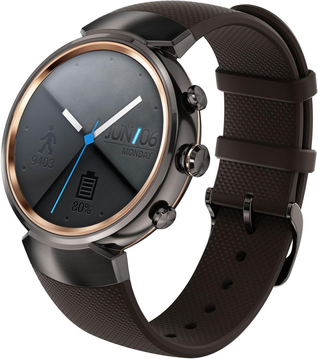 ASUS ZenWatch 3 WI503Q, Gunmetal смарт-часыWI503Q-1RGRY0011ASUS ZenWatch 3 - это современное цифровое устройство, выполненное в соответствии с давними традициями часового искусства из высококачественных материалов и с вниманием к каждой детали. Эти часы умеют делать гораздо больше, чем просто показывать время, а благодаря широким возможностям по персонализации их интерфейса вы легко можете настроить их по своему вкусу. Длительное время автономной работы и технология быстрой подзарядки аккумулятора делают ASUS ZenWatch 3 по-настоящему мобильным устройством, которое всегда будет готово к работе. Своим внешним видом ASUS ZenWatch 3 ближе к традиционным часам, чем к современным цифровым гаджетам. Их стильный дизайн вдохновлен образом солнечного затмения, а широчайшая функциональность реализована с безупречным мастерством. Корпус часов ZenWatch 3 изготовлен из ювелирной нержавеющей стали марки 316L, которая наделяет их не только превосходным внешним видом, но и долговечностью, ведь ее прочность на 82% выше по...