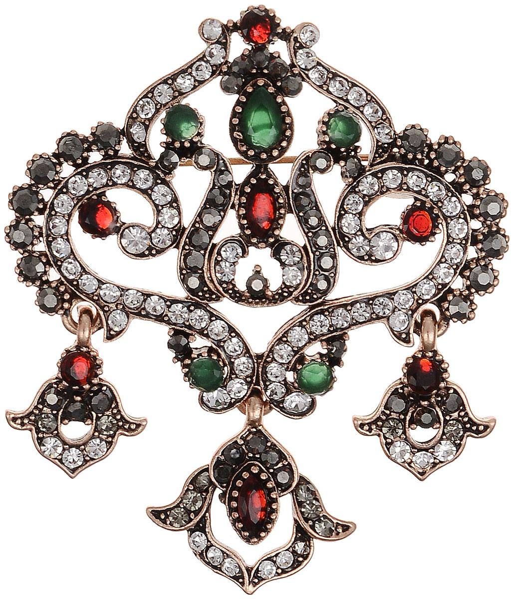 Брошь-кулон Мэрибель в византийском стиле от Arrina. Разноцветные кристаллы, прозрачные стразы, бижутерный сплав старое золото. ГонконгОС29205Брошь-кулон Мэрибель в византийском стиле от Arrina. Разноцветные кристаллы, прозрачные стразы, бижутерный сплав старое золото. Гонконг. Размер: 6 х 5 см. Тип крепления - булавка с застежкой. Имеется петелька для цепочки.