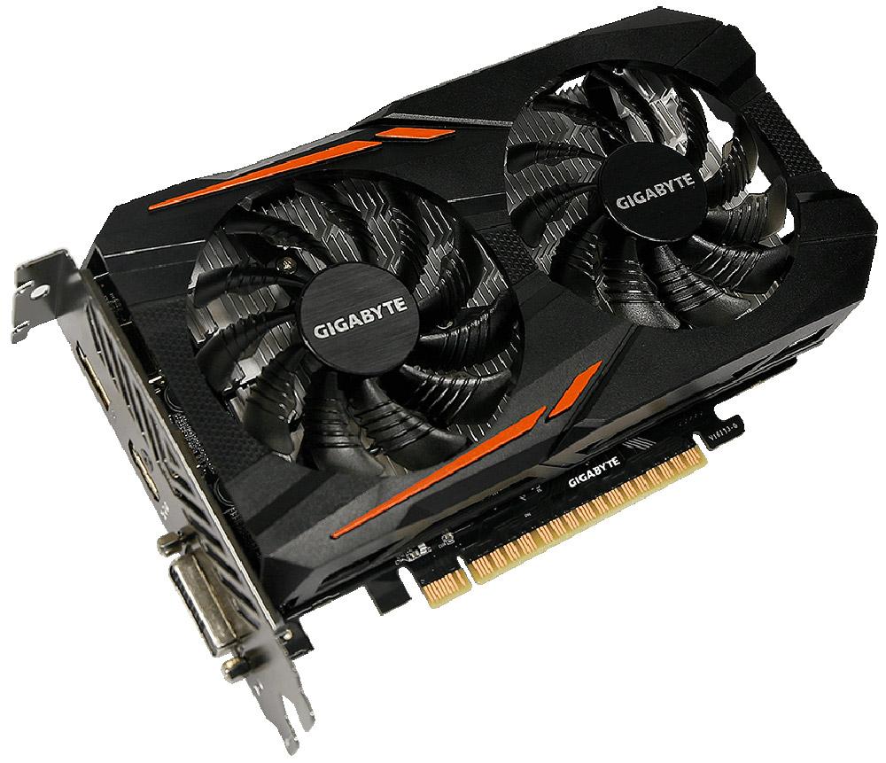 Gigabyte GeForce GTX 1050 OC 2G 2GB видеокартаGV-N1050OC-2GDВидеокарта 2Gb / PCI-E / GIGABYTE GeForce GTX 1050 OC 2G GV-N1050OC-2GD / GTX1050, GDDR5, 128bit, HDCP, DVI, HDMI, DP