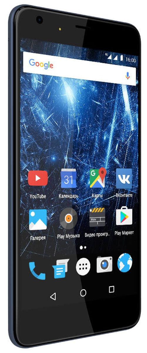 """Highscreen Easy XL Pro, Blue23853Highscreen Easy XL Pro - простой и доступный смартфон с большим и ярким экраном, поддержкой 4G/LTE и ГЛОНАСС. Матовый корпус имеет прекрасную эргономику и сбалансированные размеры. Яркий и контрастный 5.5'' HD-экран, выполненный по технологии OnCell, обеспечивает естественную цветопередачу и моментальный отклик. Скругленные края (2.5D) помогают легче и быстрее взаимодействовать с ним. Highscreen Easy XL Pro работает на базе """"чистого"""" Android Marshmallow, компания преднамеренно не ставит дополнительные приложения и игры, чтобы не занимать лишнюю память и дать вам свободу выбора. Ощутите всю прелесть точной навигации, ты сможешь точно определять свое местоположение и быстро прокладывать маршруты из точки A в точку B. Вы сможете управлять домашней техникой благодаря встроенному ИК-порту в твоем Easy XL, просто загрузив специальное приложение из Google Play. Телефон сертифицирован EAC и имеет русифицированный интерфейс меню и Руководство..."""