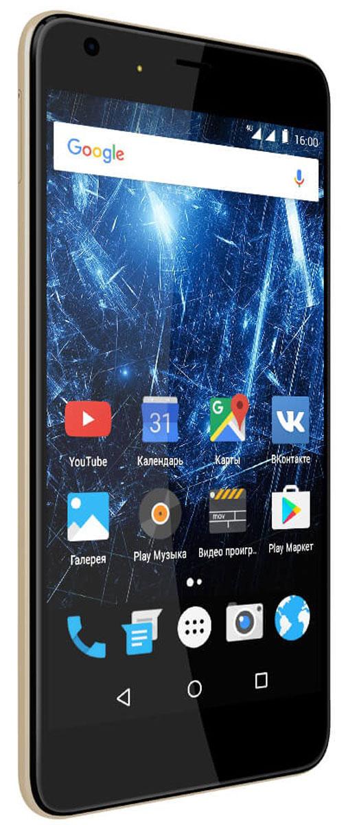Highscreen Easy XL Pro, Gold23855Highscreen Easy XL Pro - простой и доступный смартфон с большим и ярким экраном, поддержкой 4G/LTE и ГЛОНАСС. Матовый корпус имеет прекрасную эргономику и сбалансированные размеры. Яркий и контрастный 5.5 HD-экран, выполненный по технологии OnCell, обеспечивает естественную цветопередачу и моментальный отклик. Скругленные края (2.5D) помогают легче и быстрее взаимодействовать с ним. Highscreen Easy XL Pro работает на базе чистого Android Marshmallow, компания преднамеренно не ставит дополнительные приложения и игры, чтобы не занимать лишнюю память и дать вам свободу выбора. Ощутите всю прелесть точной навигации, ты сможешь точно определять свое местоположение и быстро прокладывать маршруты из точки A в точку B. Вы сможете управлять домашней техникой благодаря встроенному ИК-порту в твоем Easy XL, просто загрузив специальное приложение из Google Play. Телефон сертифицирован EAC и имеет русифицированный интерфейс меню и...