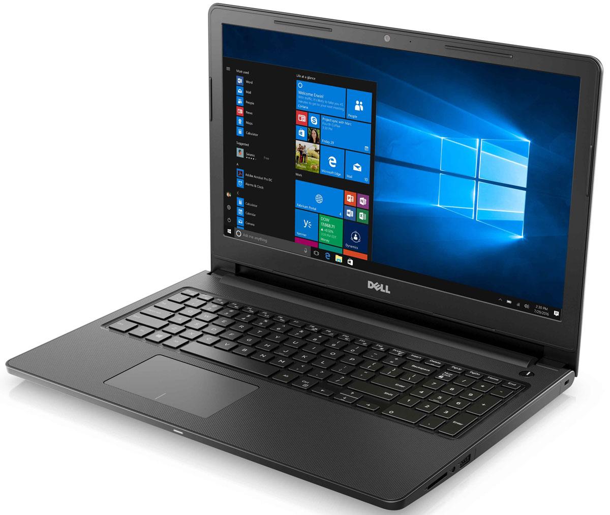 Dell Inspiron 3567, Black (3567-7879)3567-7879Производительный 15-дюймовый ноутбук Dell Inspiron 3566 с новейшим процессором Intel Core i3, глянцевым дисплеем с покрытием TrueLife и продолжительным временем работы от батареи. Благодаря процессору Intel Core i3-6006U и дискретной графической карте AMD Radeon R5 M430 вы получаете высокую производительность без задержки, что гарантирует плавное воспроизведение музыки и видео при фоновом выполнении других программ. Превосходный звук Waves MaxxAudio обеспечивает впечатляющее качество при прослушивании музыки и просмотре видео. Сделайте Dell Inspiron 3567 своим узлом связи. Поддерживать связь с друзьями и родственниками никогда не было так просто благодаря надежному WiFi-соединению и Bluetooth 4.0, встроенной HD веб-камере высокой четкости и 15,6-дюймовому экрану. Смотрите фильмы с DVD-дисков, записывайте компакт-диски или быстро загружайте системное программное обеспечение и приложения на свой компьютер с помощью внутреннего...