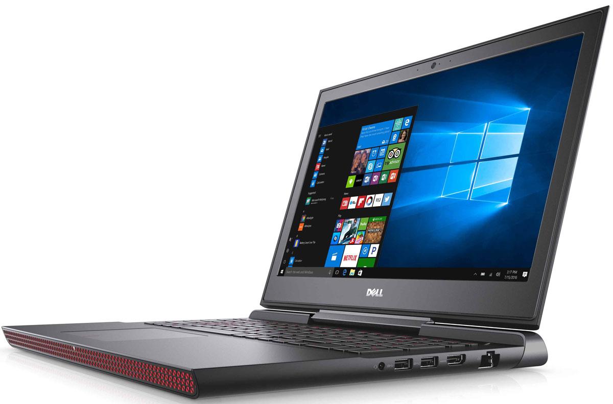 Dell Inspiron 7567, Black (7567-9309)7567-9309Получайте совершенно новые впечатления от развлечений, игр и видео с ноутбуком Dell Inspiron 15 благодаря мощному процессору Intel Core i5 седьмого поколения и графическому адаптеру NVIDIA GeForce GTX1050M. Наслаждайтесь изображением высочайшего качества на дисплее, выполненном по технологии IPS, с антибликовым покрытием. Этот дисплей поддерживает разрешение Full HD (1920x1080) и характеризуется широким узлом обзора. Предотвратите ошибочные нажатия клавиш с помощью клавиатуры с подсветкой, которая поможет вам играть или работать на компьютере даже в темноте. А чувствительная сенсорная панель обеспечит точную поддержку жестов с превосходным временем реакции. Погрузитесь в мир отличного звука с помощью технологии Waves MaxxAudio Pro. Разработанные корпорацией Dell широкополосные и низкочастотные динамики используют все возможности программного обеспечения для формирования звука студийного качества, поэтому вы не упустите ни малейшего...