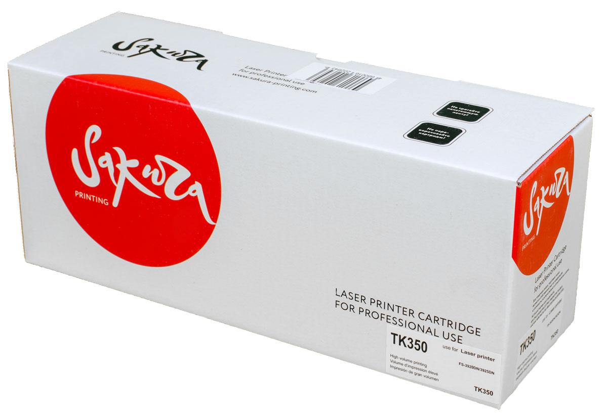 Sakura TK350, Black тонер-картридж для Kyocera FS-3920DN/3925DNSATK350Тонер-картридж Sakura TK350 для лазерных принтеров Kyocera FS-3920DN/3925DN является альтернативным решением для замены оригинальных картриджей. Он печатает с тем же качеством и имеет тот же ресурс, что и оригинальный картридж. В картриджах компании Sakura используется химический синтезированный тонер, который в отличие от дешевого тонера из перемолотого полимера, не царапает, а смазывает печатающий вал, что приводит к возможности многократных перезаправок картриджей. Такой подход гарантирует долгий срок службы принтера, превосходное качество и стабильность печати. Тонер-картриджи Sakura производятся при строгом соответствии стандартам ISO 9001 и ISO 14001, что подтверждено международными сертификатами.