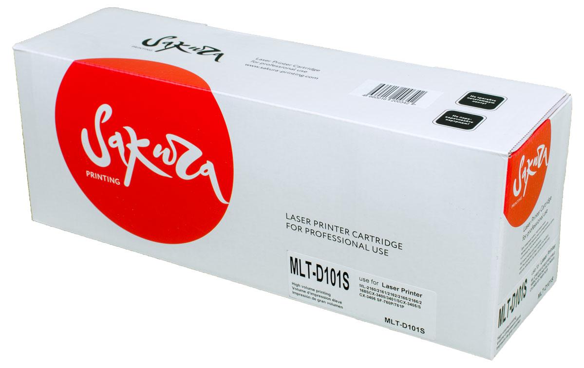 Sakura MLT-D101S, Black тонер-картридж для Samsung ML2160/2161/2162/2165/2166/2168/SCX3400/3401/3405/3406/SF760P/761PSAMLTD101SТонер-картридж Sakura MLT-D101S для лазерных принтеров Samsung ML2160/2161/2162/2165/2166/2168/SCX3400/3401/3405/3406/SF760P/761P является альтернативным решением для замены оригинальных картриджей. Он печатает с тем же качеством и имеет тот же ресурс, что и оригинальный картридж. В картриджах компании Sakura используется химический синтезированный тонер, который в отличие от дешевого тонера из перемолотого полимера, не царапает, а смазывает печатающий вал, что приводит к возможности многократных перезаправок картриджей. Такой подход гарантирует долгий срок службы принтера, превосходное качество и стабильность печати. Тонер-картриджи Sakura производятся при строгом соответствии стандартам ISO 9001 и ISO 14001, что подтверждено международными сертификатами.