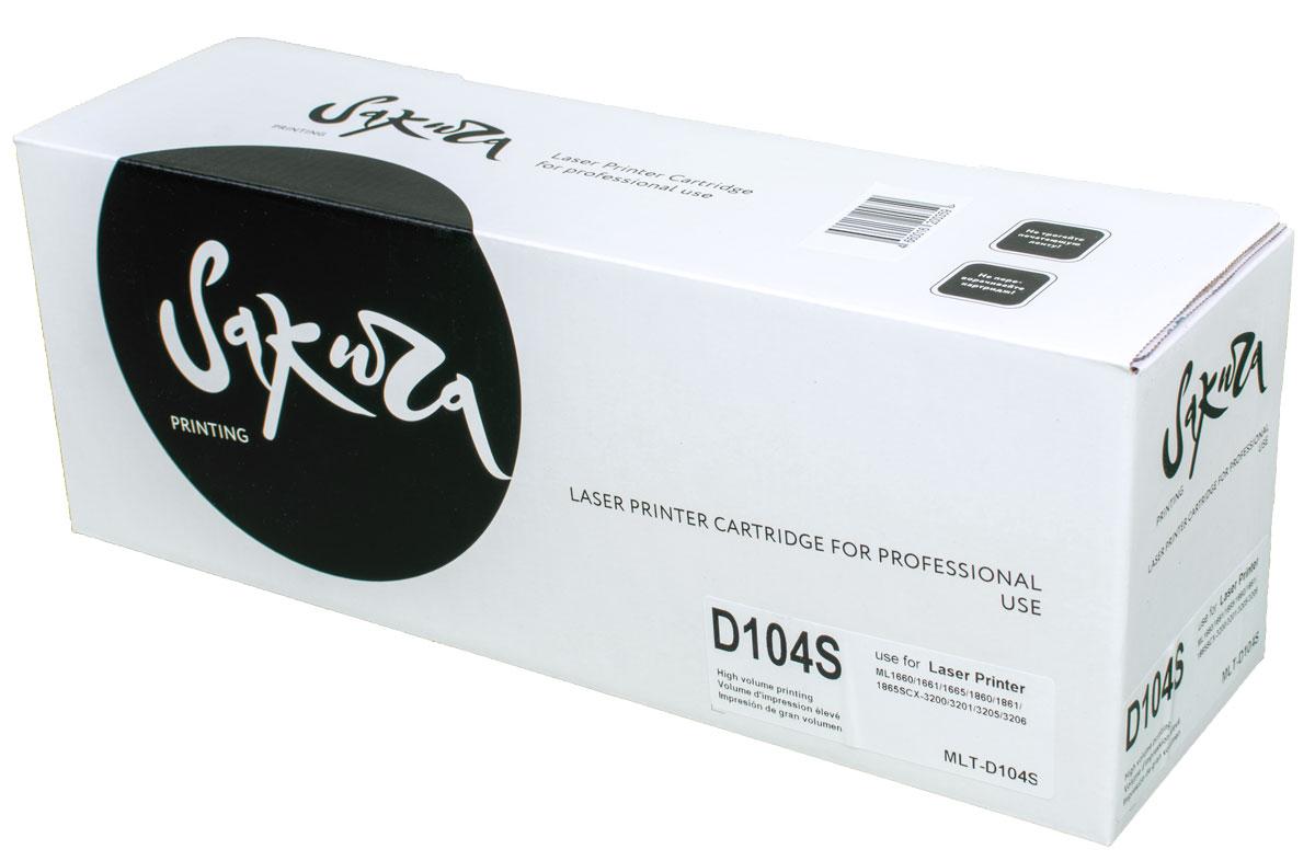 Sakura MLTD104S, Black тонер-картридж для Samsung ML-1660/1665/1667/SCX-3200/3205SAMLTD104S