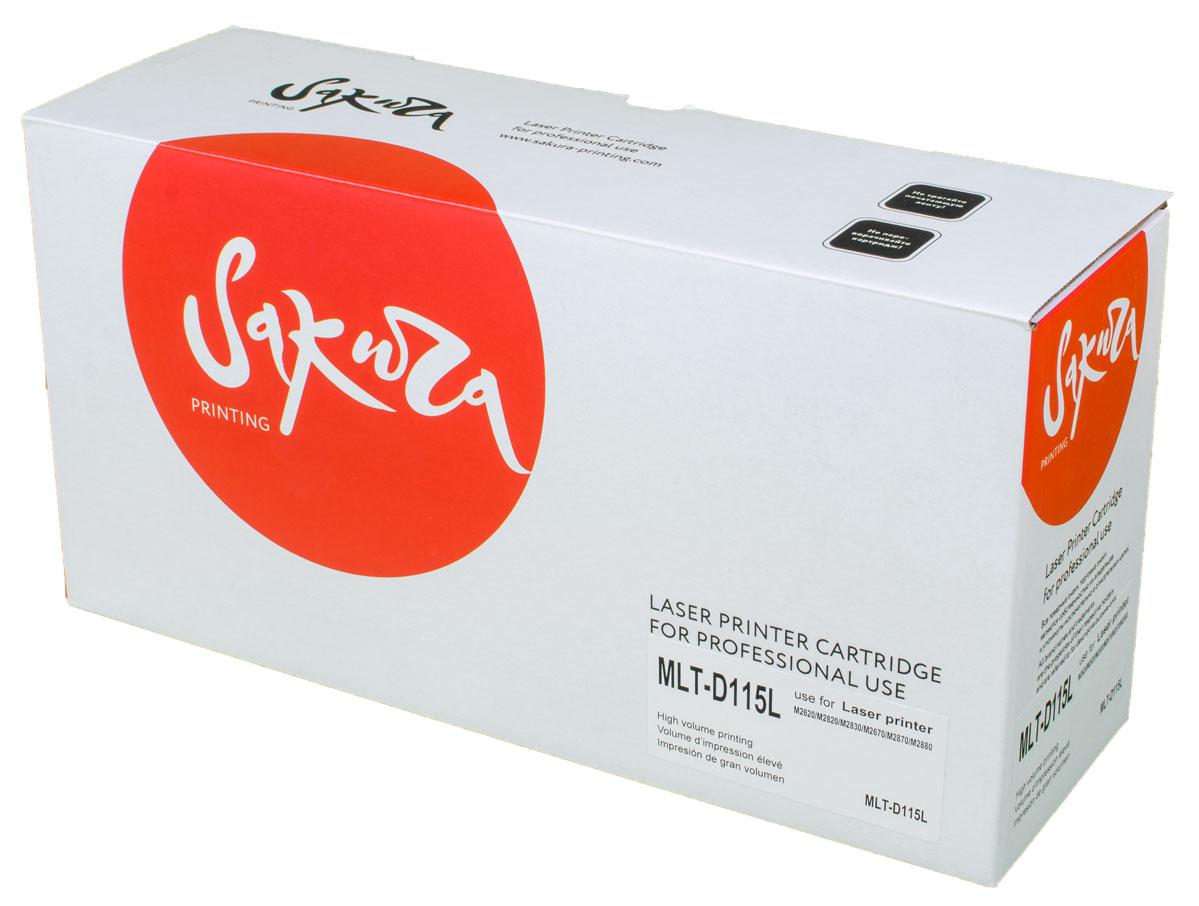Sakura MLTD115L, Black тонер-картридж для Samsung SL-M2620/M2820/M2670/M2870SAMLTD115LТонер-картридж Sakura MLTD115L для лазерных принтеров Samsung SL-M2620/2820/M2670/2870 является альтернативным решением для замены оригинальных картриджей. Он печатает с тем же качеством и имеет тот же ресурс, что и оригинальный картридж. В картриджах компании Sakura используется химический синтезированный тонер, который в отличие от дешевого тонера из перемолотого полимера, не царапает, а смазывает печатающий вал, что приводит к возможности многократных перезаправок картриджей. Такой подход гарантирует долгий срок службы принтера, превосходное качество и стабильность печати. Тонер-картриджи Sakura производятся при строгом соответствии стандартам ISO 9001 и ISO 14001, что подтверждено международными сертификатами.