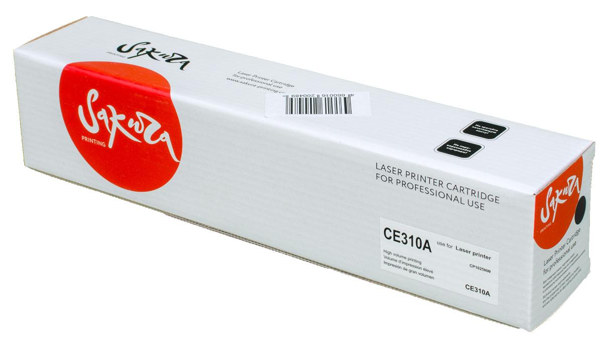 Sakura CE310A, Black тонер-картридж для HP LaserJet Pro CP1025/CP1025NWSACE310AТонер-картридж Sakura CE310A для лазерных принтеров HP LaserJet Pro CP1025/CP1025NW является альтернативным решением для замены оригинальных картриджей. Он печатает с тем же качеством и имеет тот же ресурс, что и оригинальный картридж. В картриджах компании Sakura используется химический синтезированный тонер, который в отличие от дешевого тонера из перемолотого полимера, не царапает, а смазывает печатающий вал, что приводит к возможности многократных перезаправок картриджей. Такой подход гарантирует долгий срок службы принтера, превосходное качество и стабильность печати. Тонер-картриджи Sakura производятся при строгом соответствии стандартам ISO 9001 и ISO 14001, что подтверждено международными сертификатами.