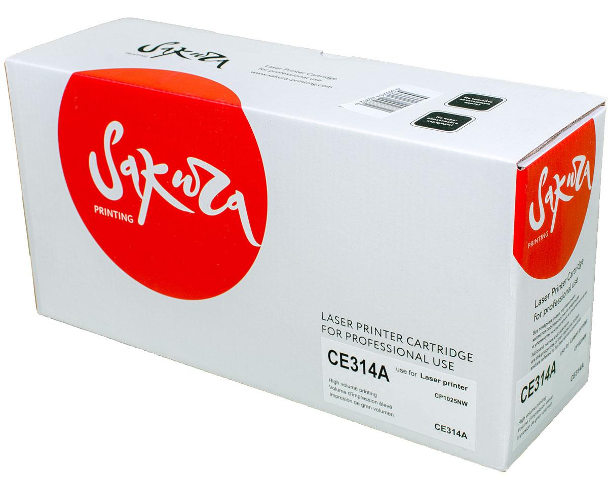 Sakura CE314A фотобарабан для HP MFP M175a/M175nw/CP1025/CP1025nwSACE314A