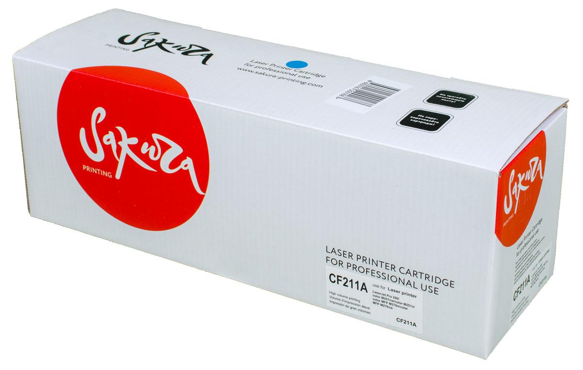 Sakura CF211A, Cyan тонер-картридж для HP LaserJet Pro M251/M276SACF211A
