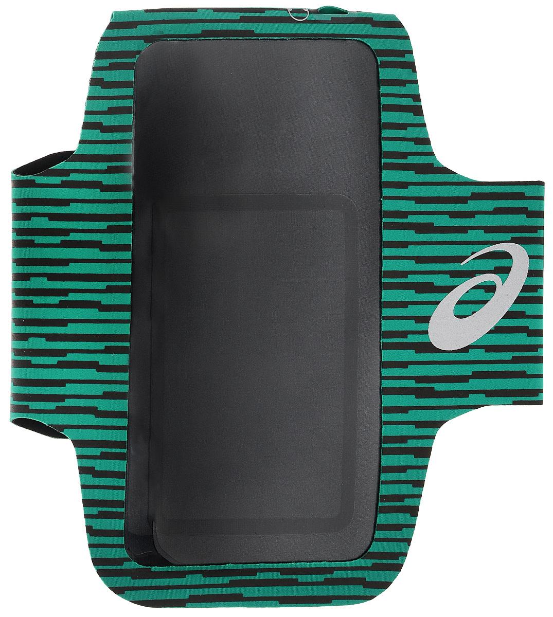 """Сумка-чехол для мобильных устройств Asics """"Mp3 Arm Tube"""", цвет: зеленый, черный"""